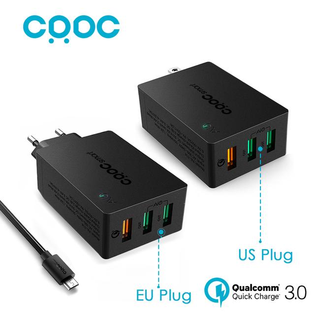 CRDC USB Carregador de Carga Rápida 3.0 Rápido Carregador de Parede Inteligente IC qc 2.0 compatível para lg g5 samsung iphone xiaomi & mais aukey feito