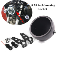 5.75\ Inch LED Headlight Lamp Shell Bucket Housing for Harley Motorcycle Honda Shadow Kawasaki Vulcan Suzuki