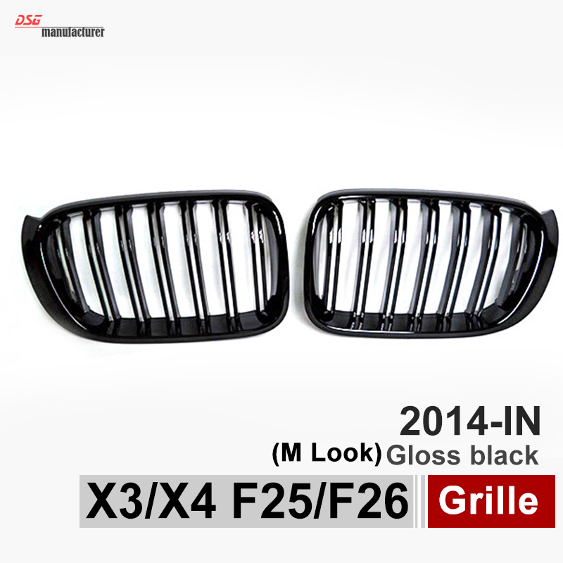 X3 F25 Front Grill X4 F26 ABS Front Kidney Dual Slat Mesh Grille for BMW 2014 + X Series SUV X3 F25 and X4 F26 Gloss Black horton prostaglandins and the kidney paper only