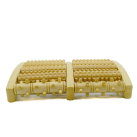 2018 wooden dual foot massager rollers heath therapy relax for plantar fasciitis arch pain relief reflexology