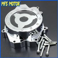 Motorcycle Engine Stator cover see through For Yamaha YZF R6 2003 2004 2005 2006 YZF R6S 2006 CHROME