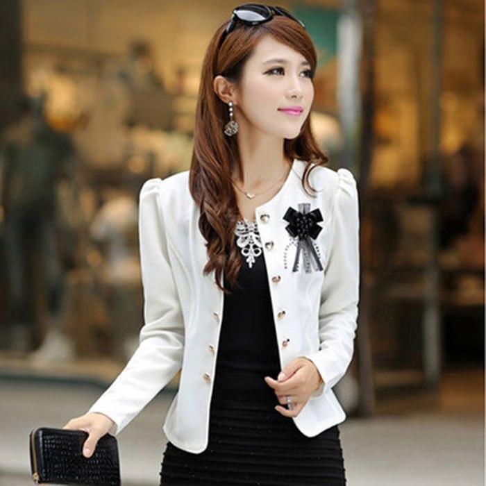 Women's spring and autumn jacket European and American female small suit jacket women slim jacket coat plus size short coat