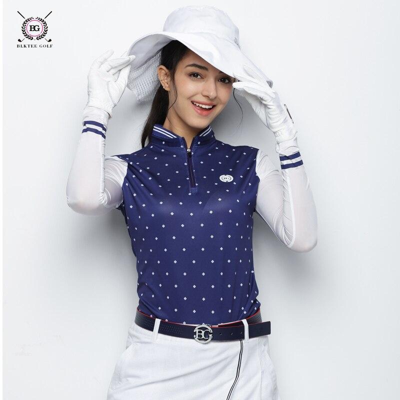 2018 BLK TEE women golf shirts long sleeve summer sports jersey quick dryfabric shirt golf training apparel lady top sunscreen
