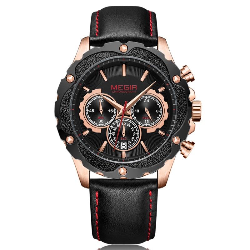 Men's Watch Multi-function Sports Chronograph Calendar Men's Watch Quartz Watch braun chronograph sports watch
