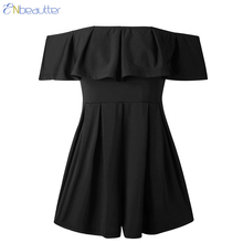 3f5962f6be ENbeautter Jumpsuits For Women 2018 Sexy Off The Shoulder Wrapped Chest  Backless Ruffle Female Playsuit Overall