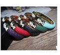 Snakeskin bracelet women's high-end alloy custom PU leather drip oil snake head opening bracelet
