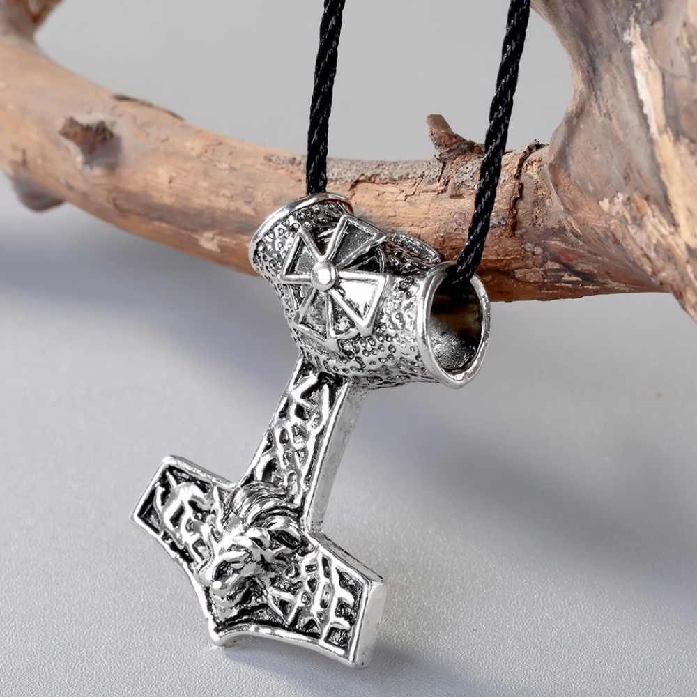 CHENGXUN Viking naszyjnik Nordic młot thora topór amulety lew krzyż wisiorek oryginalny zwierząt talizman Viking biżuteria