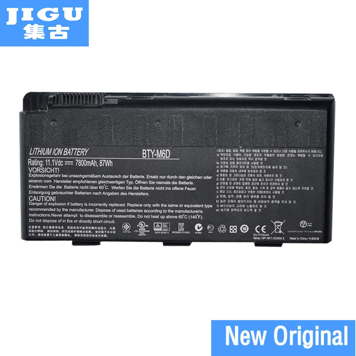 цена на JIGU ORIGNAL Laptop Battery BTY-GS70 BTY-M6D FOR MSI 1762 1763 17631 CR720 E6603 GS70 GX70 GT60 GT660 GT660R GT663 GT670 GT680