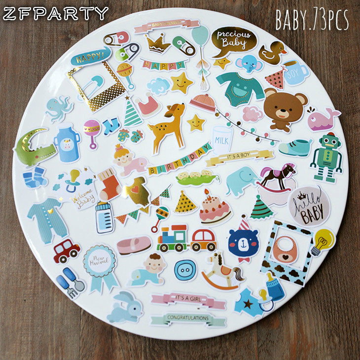 ZFPARTY Hello Baby Die Cuts Stickers for Scrapbooking Happy Planner/Card Making/Journaling Project 73pcsZFPARTY Hello Baby Die Cuts Stickers for Scrapbooking Happy Planner/Card Making/Journaling Project 73pcs
