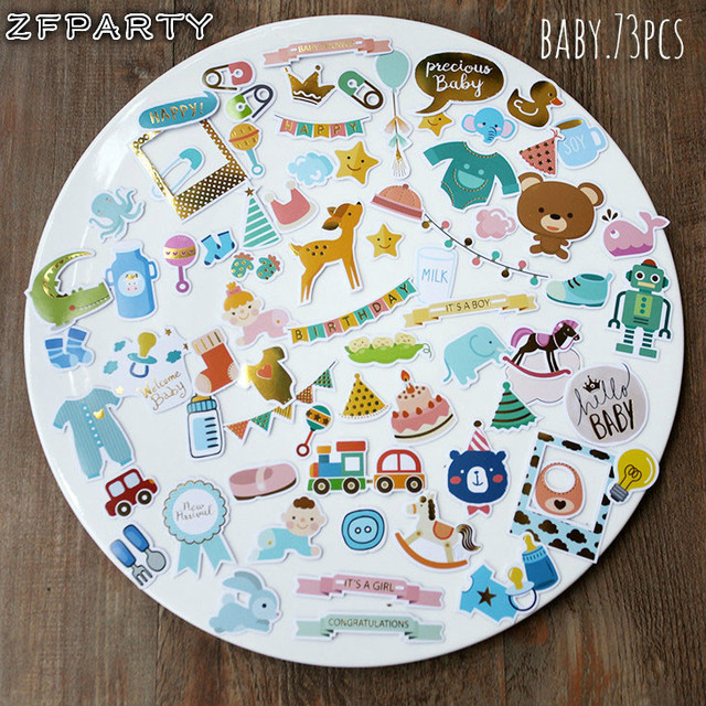Zfparty hello baby die cuts stickers for scrapbooking happy planner card making journaling project