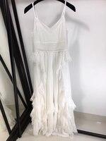 Женское длинное платье женское вечернее платье Элегантное 2019 новое белое платье на бретельках для женщин