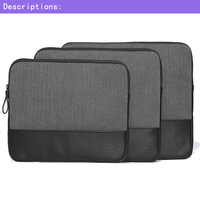 GearMAX Genuine Leather Woolen Laptop Sleeve Case Bag Protective Skin Notebook Pouch For Macbook 11 6