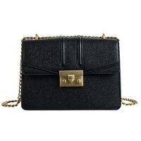 Classic litchi grain handbag for women wild messenger bag female chains shoulder bag high quality women square bag