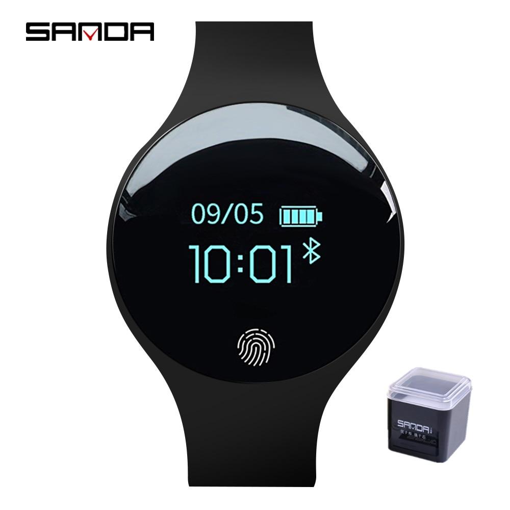 9f4e42e3a7ab SANDA Smartwatch para Android IOS hombres reloj inteligente podómetro Fitness  relojes de mujer impermeable reloj deportivo reloj Bluetooth en Relojes ...