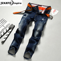 Men Jeans Fashion Brand Pant Male Casual Straight Denim Jeans Men's old processing Slim fold denim Jeans Full Length