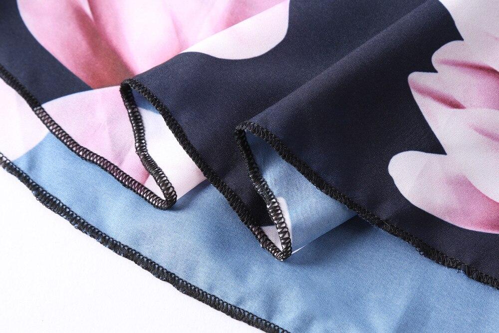 Fashion Hombro Ruffles Del Fuera Tops Manga Crop Top Mujeres Señora Niñas Verano Impreso Blusas Corta Marino Camisa Casual Yl Azul 1q0xOPw