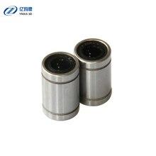 10pcs/lot LM8UU Ball Bearings 8mm Bushing Rail Linear Long Rod Shaft Part 8mm*15mm*24mm Aluminum Bush For CNC 3D Printers Parts