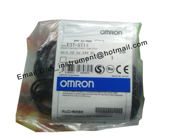 Original Omron E3T-ST11 2M Ultracompact, Ultrathin Photoelectric Sensor with Built-in Amplifier omron photoelectric switch sensor built in micro diffuse 2m e3t sl11