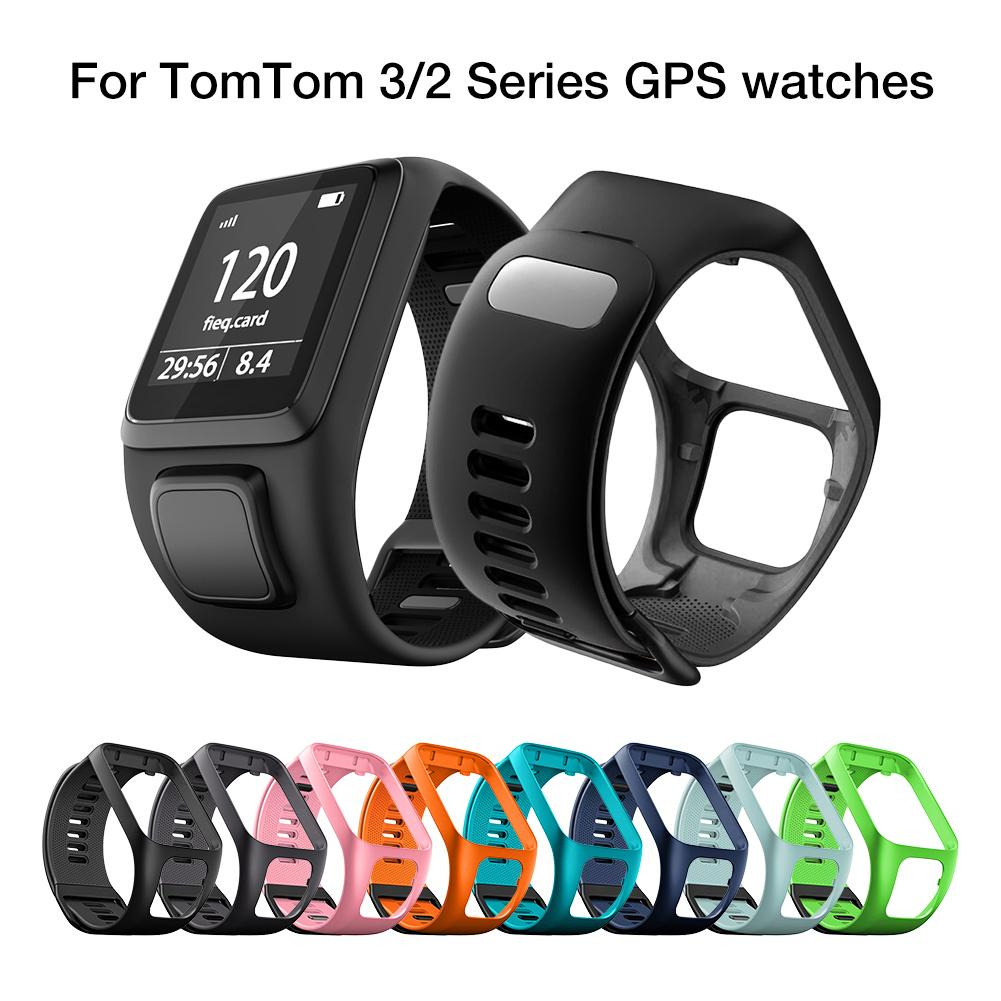 Silicone Replacement Watchband Wrist Band Strap For TomTom 2 3 Series Runner 2 3 Spark Series GPS Sport Smart Watch Accessories in Smart Accessories from Consumer Electronics