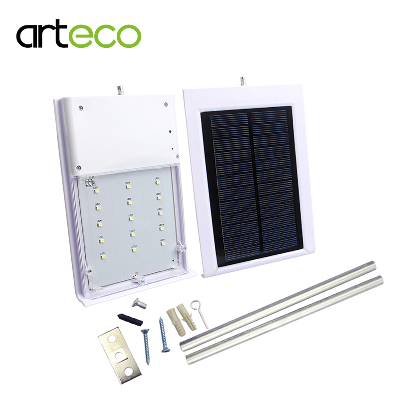 ultra fino 15 diodos emissores de luz solar luz de rua a prova d agua do