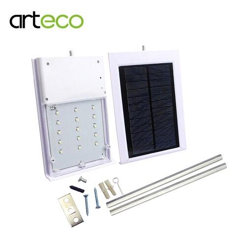 ultra fino 15 diodos emissores de luz solar luz de rua a prova d agua