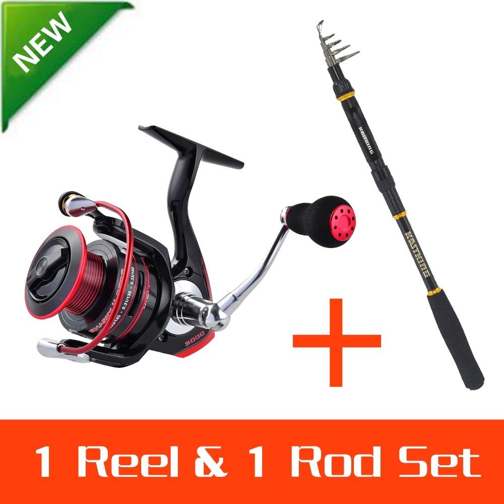 Kastking fishing reel set rod throw pole sharky for Shark fishing rod and reel combo