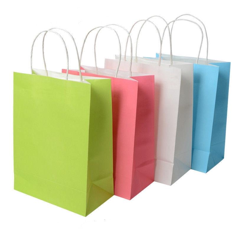 1 unids kraft bolsas de papel para fiestas gama tratar - Bolsa de papel para regalo ...