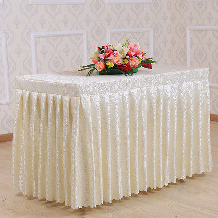 Online shop custom made hotel tablecloth meeting wedding banquet custom made hotel tablecloth meeting wedding banquet check in table buffet thickening jacquard table skirting table cover watchthetrailerfo