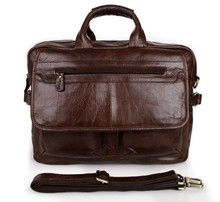7085C Free Shipping JMD Genuine Leather Handbags For Men Briefcase Laptop Bags