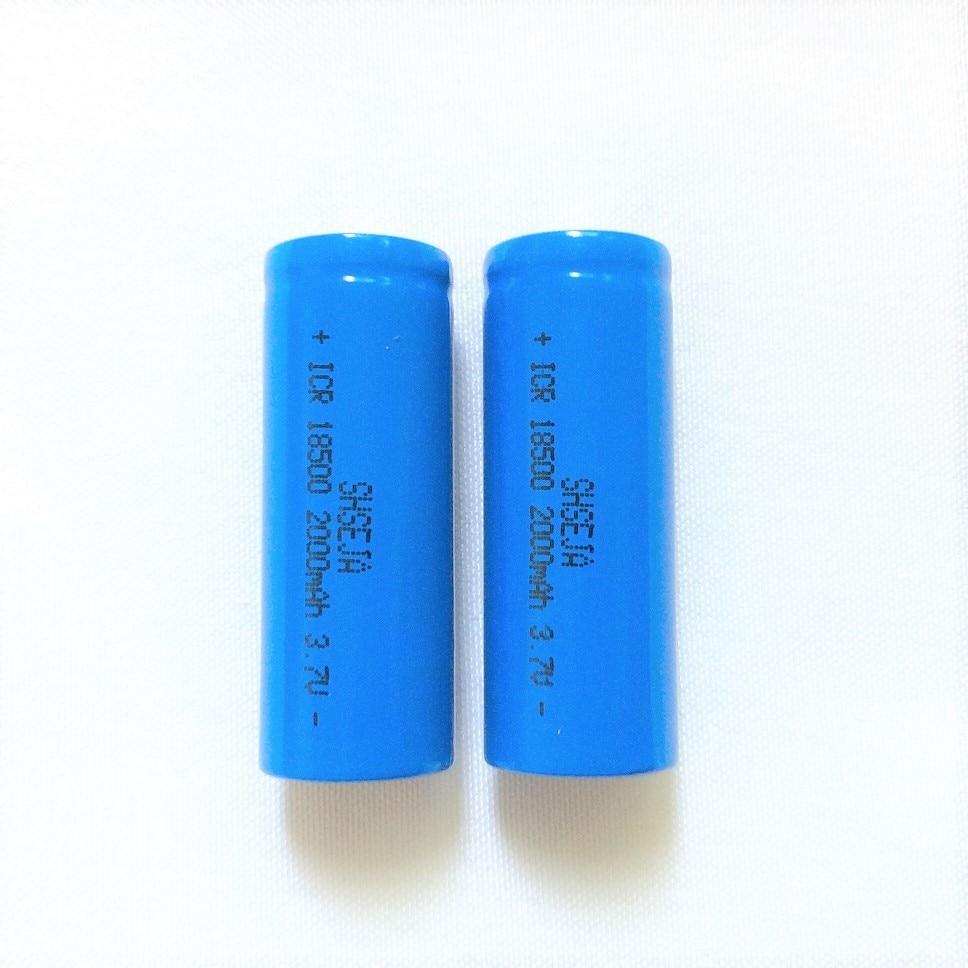 2 pçs/lote 18500 Bateria 3.7V 2000mAh Bateria Recarregável 18500 Bateria De Lítio Recarregável li-ion Baterias Batteies