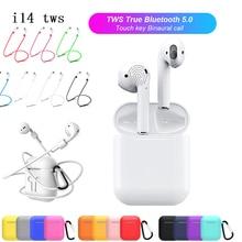 Беспроводной наушники Портативный Bluetooth для iPhone X 8 7 мобильных Android 1:1 стручки Air i14 СПЦ i13 pk i10 СПЦ i12 1:1 i16 i17 i18