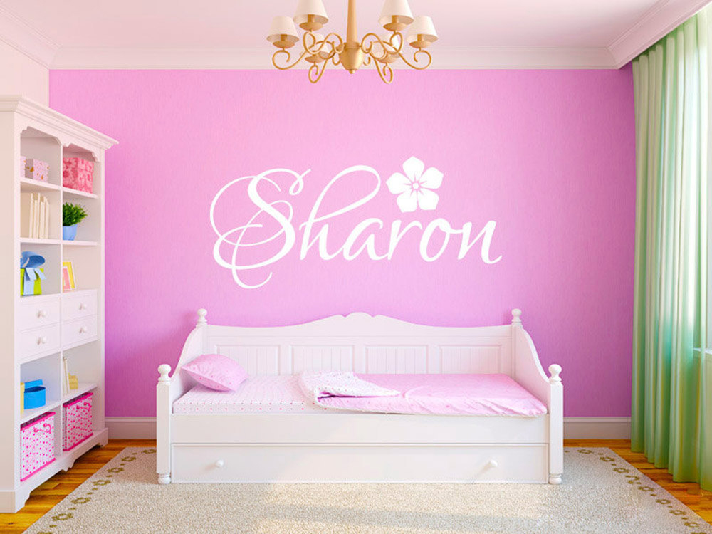 Personalized custom any name wall stickers for kids rooms for Personalized kids room decor