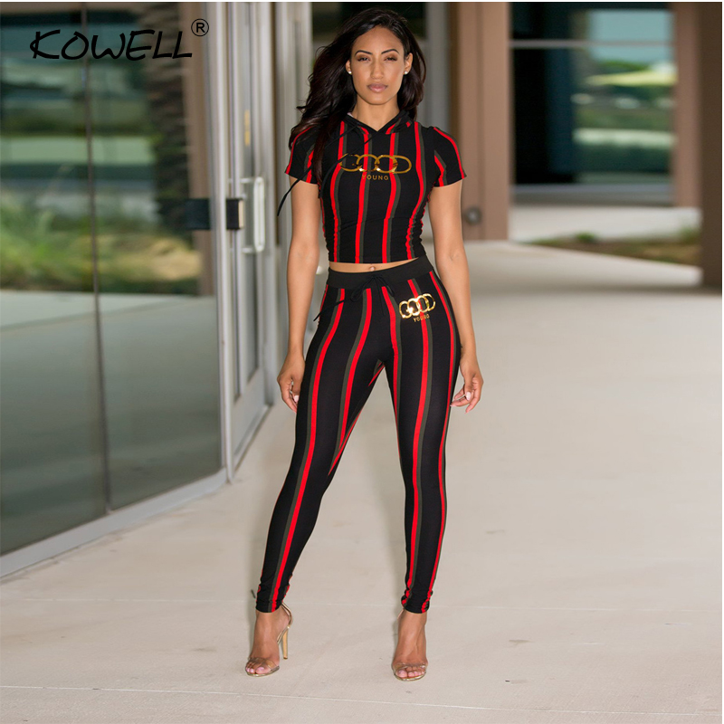 c9b7f3cced5 Stripe Casual Women Jumpsuit Romper Printing Elastic Two Piece Suit Jumpsuit  High Waist Fitness Playsuit Jumpsuits Plus Size