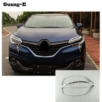 Car Body Front Head Light Lamp Hood Molding Detector Frame Stick Styling ABS Chrome Cover Trim
