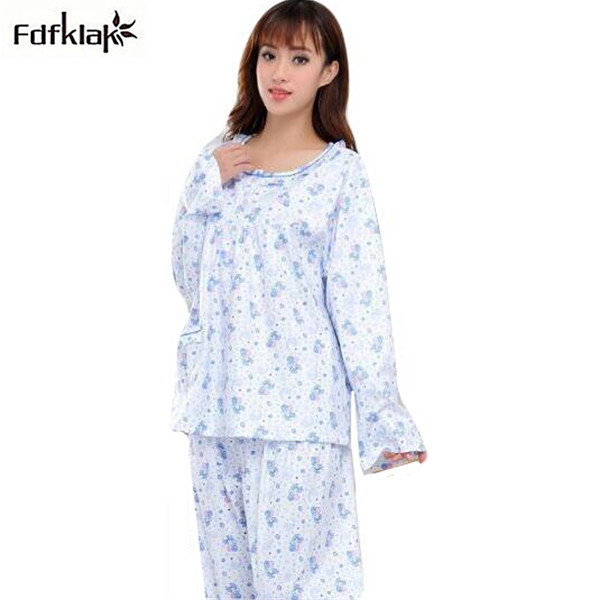 XL-5XL Womens pajamas large size winter cotton pajama long sleeve spring  autumn pijama home clothes for women pyjama femme Q582 1aae552f2