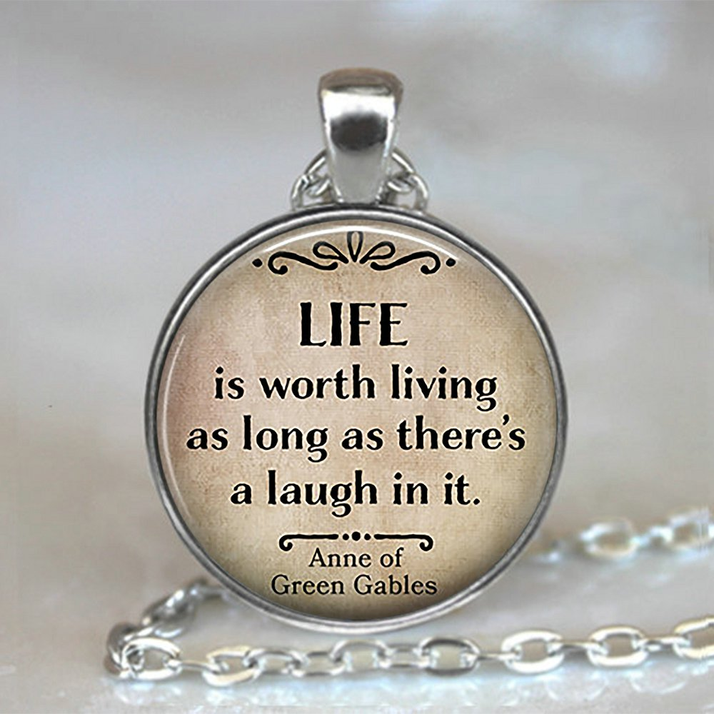 Anne of Green Gables Book cover Locket Necklace keyring silver