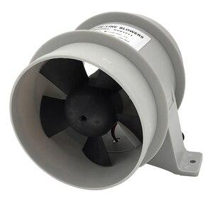 Image 5 - Yüksek hava akımı 4 inç In Line sintine sessiz fan 12 Volt 4inch Dia. Hortum Ventilador silencioso sessizlik deniz pompası