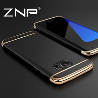 ZNP Luxury Case For Samsung Galaxy S7 Edge Cover 360 Degree Protection Hard PC Mobile 3