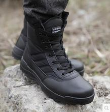 SWAT Outdoor shoes  men's high boots to help combat boots for men winter boots warm desert commando tactics boots.