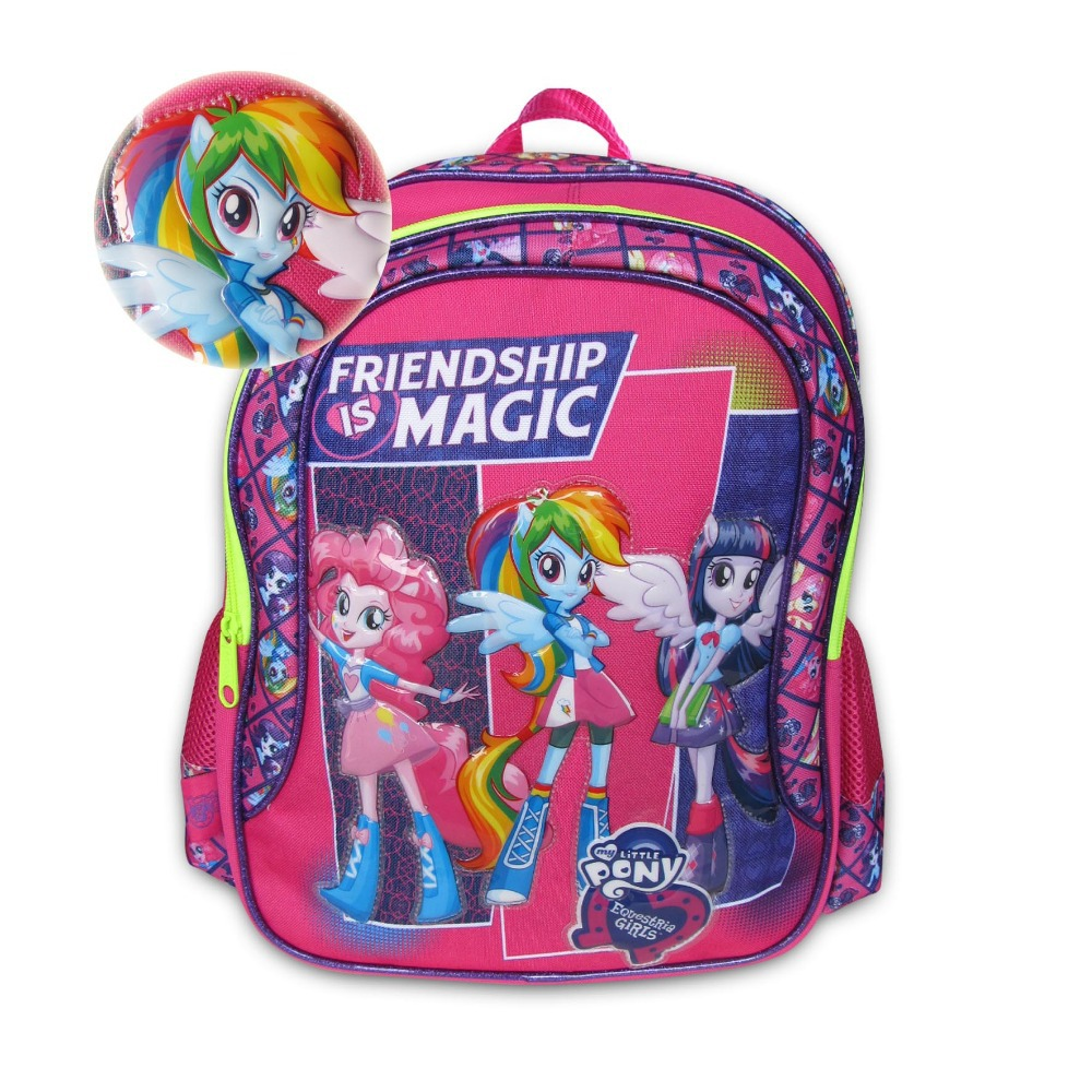 44383c00c29d 43060 My Little Pony Friendship Is Magic Equestria Girls Cartoon Backpack  Primary Student Children School Bag For Exprot Lovely-in School Bags from  Luggage ...