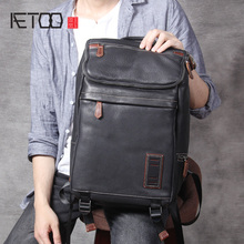 AETOO Casual head cowhide shoulder bag, male and female retro leather backpack, computer bag, travel bag все цены