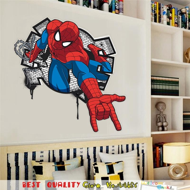 Muurstickers Kinderkamer Spiderman.Spiderman Ontwerpen Film Poster Super Heros Marvel Muurstickers