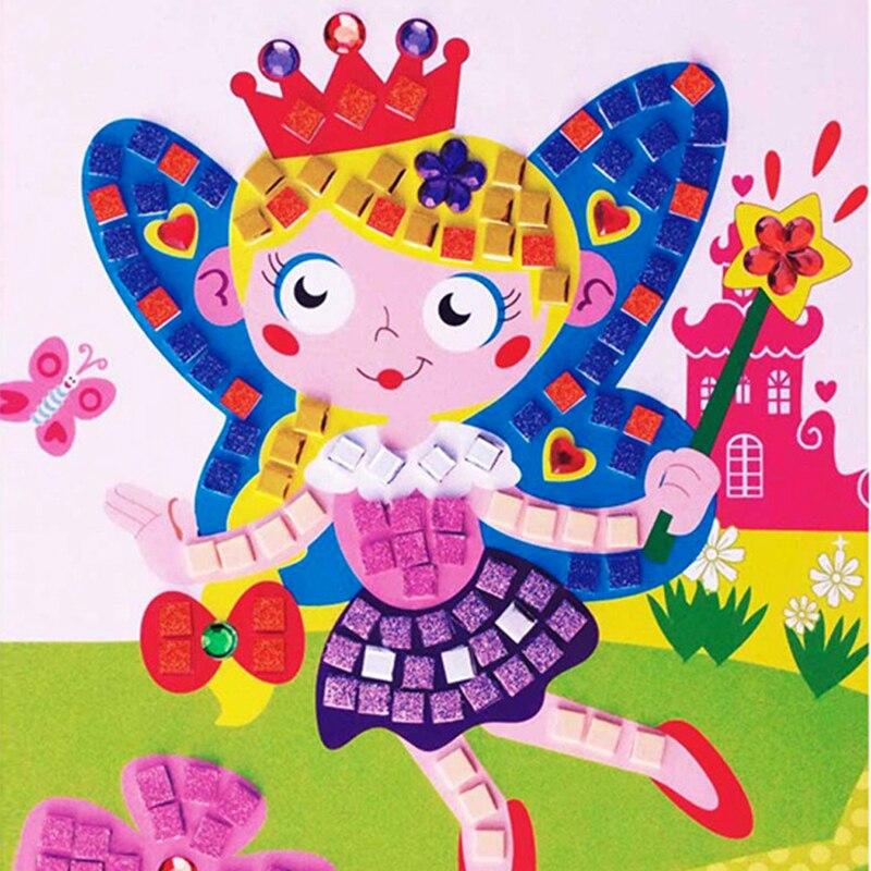 Hot Sale DIY Drawing Toys 3D Crystal Mosaics Art Princess Butterflies Sticker Game Craft Art Sticker