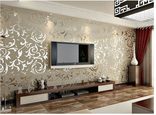 3d photo murals wallpaper roll modern living room tv brick for What size tv do i need for a 12x15 room