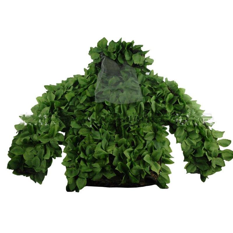Chasse en plein air oiseau observation Jungle feuille Camouflage Ghillie costumes lumière CS tir entraînement dessus respirants pantalons ensemble vêtements - 6