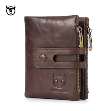New Genuine Leather Men's Wallet Crazy Horse Cowhide Man zipper Coin Purse Brand Male Credit&id Multifunctional Wallet a2015 brand new crazy horse genuine leather