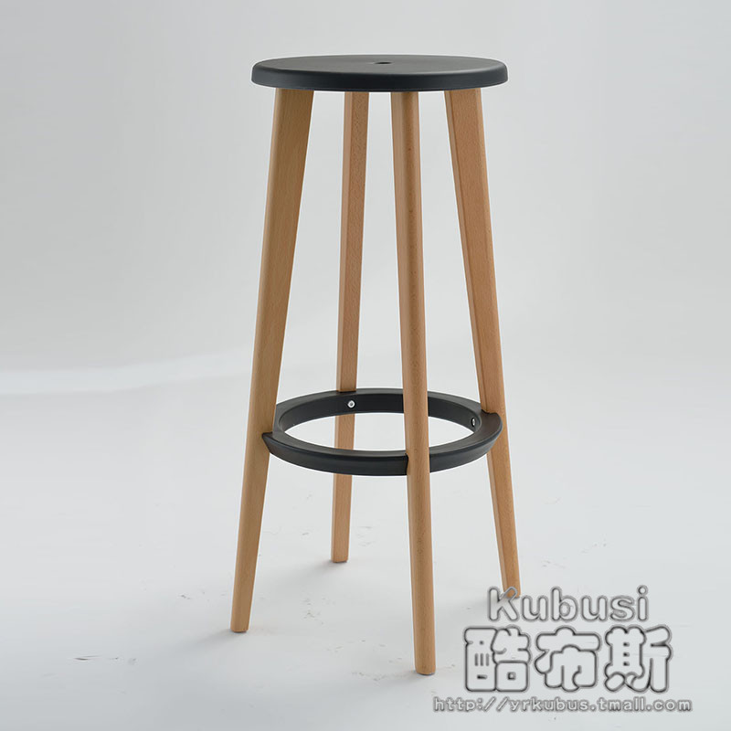 Cool Booth Wood Barstool Bar Stool Chair High Chairs Lounge Wooden Creative In Stools From Furniture On Aliexpress