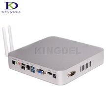 Kingdel braswell 5th Gen 14nm Intel Celeron N3150 Quad core Безвентиляторный Мини-ПК HDMI VGA металлический нуле случая Шум Desktop компьютер