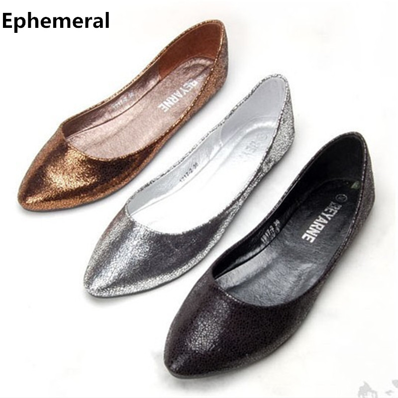 Ladies ballet flats shoes for dance soft sole pointy toe comfortable slip on women european and american style plus size 41 gold bowtie ballet flats women sweet casual single shoes summer soft open toe sandals slip on fashion ladies large size 41 moccasins