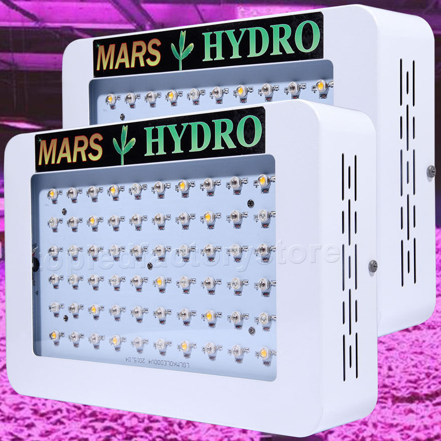 2pcs MarsHydro 300 600 full spectrum LED Grow Lights Hydroponics Panel for Indoor Garden